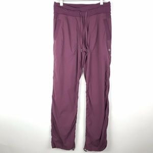 Lululemon Dance Studio Pants Burgundy Unlined